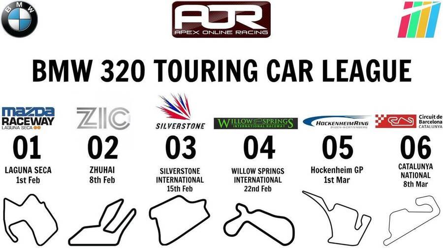 PC - AOR BMW 320 Touring Car League - Race Calendar ...