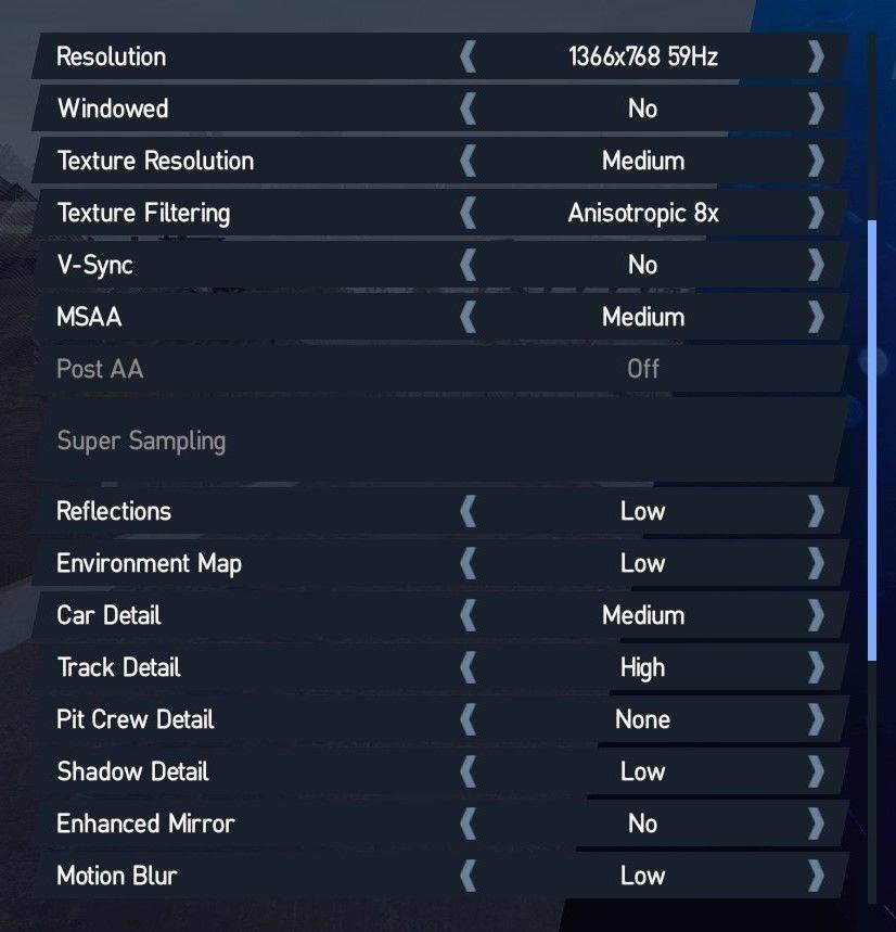 Project Cars 2 - Oculus Rift settings - GTX 1070
