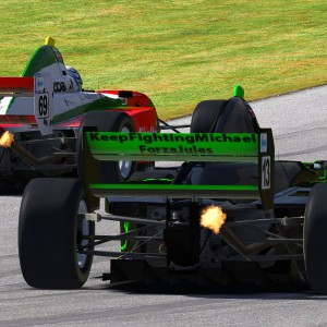 AOR Pro Mazda S3 - R4 Macleod Rear Wing Close-up