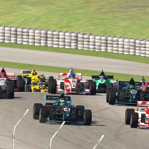 AOR Pro Mazda S3 - R9 Midfield Battles at Turn 2