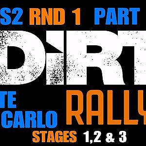 AOR DIRT RALLY LEAGUE S2/RND 1 @MONTE CARLO,STAGES 1-2-3 / PART 1 - YouTube