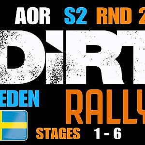 AOR DIRT RALLY LEAGUE S2/RND 2 @SWEDEN STAGES 1-6 - YouTube